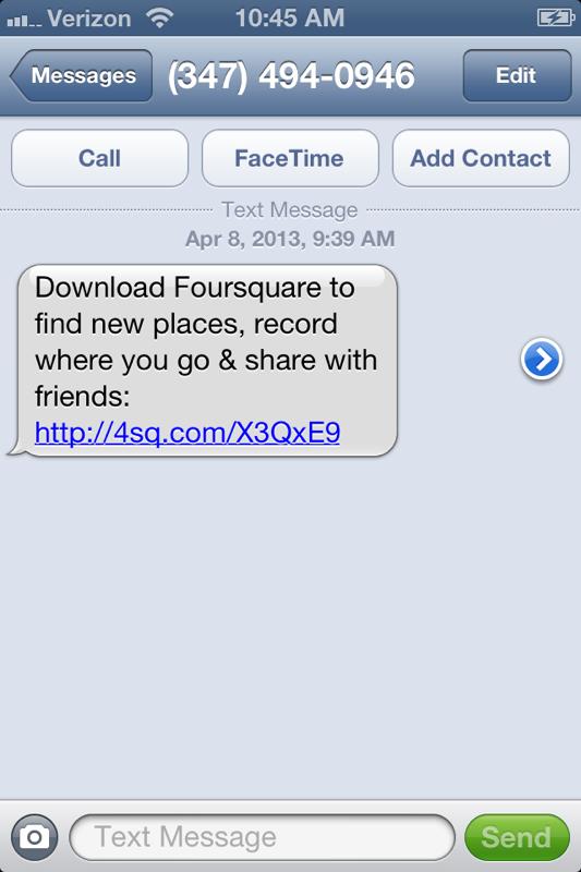FoursquareSMSToDownload2